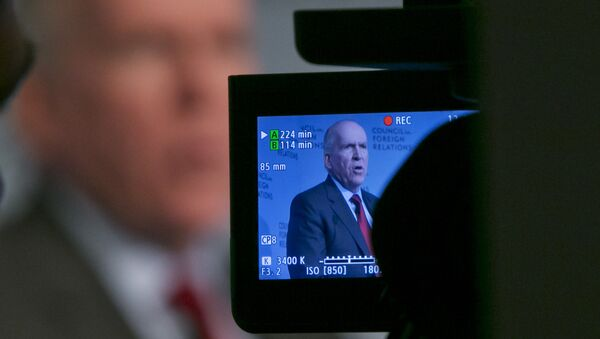 CIA Director John Brennan addresses a meeting at the Council on Foreign Relations, in New York, Friday, March 13, 2015 - Sputnik Türkiye