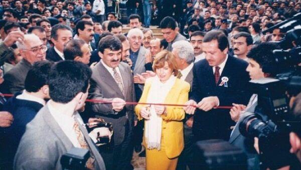 Tansu Çiller'in Bank Asya'nın açılışını yaptığı tören - Sputnik Türkiye