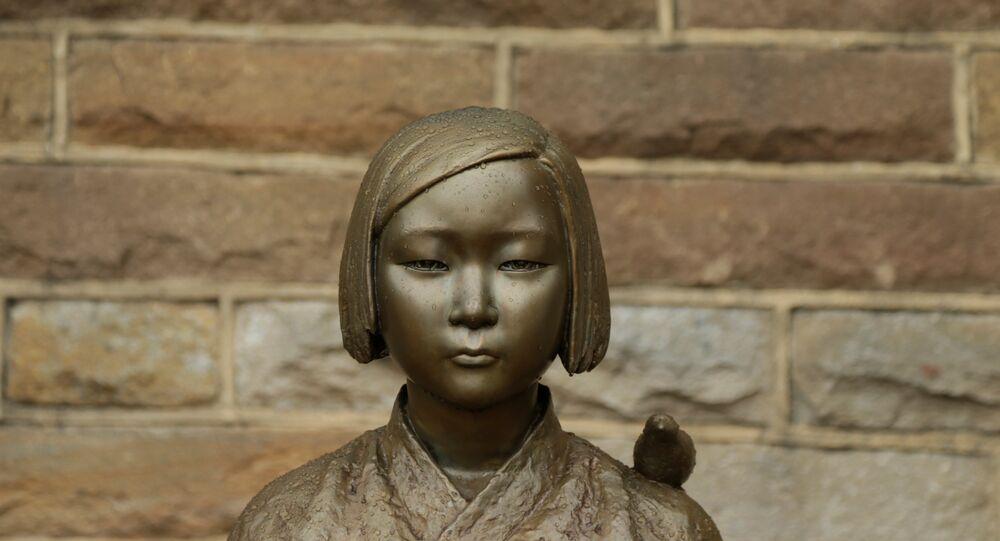 Güney Kore'deki seks kölesi heykeli