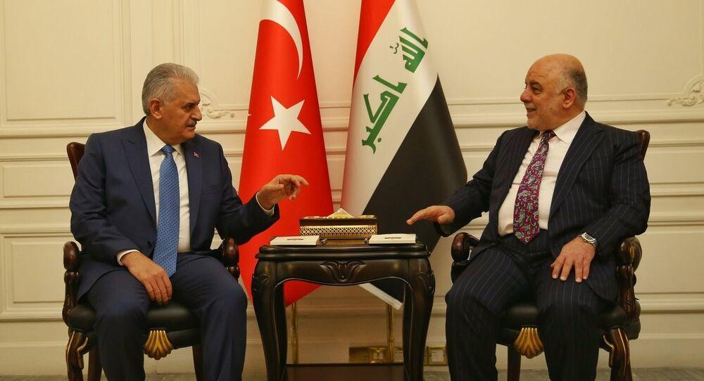 Irak Başbakanı Haydar İbadi ve Başbakan Binali Yıldırım