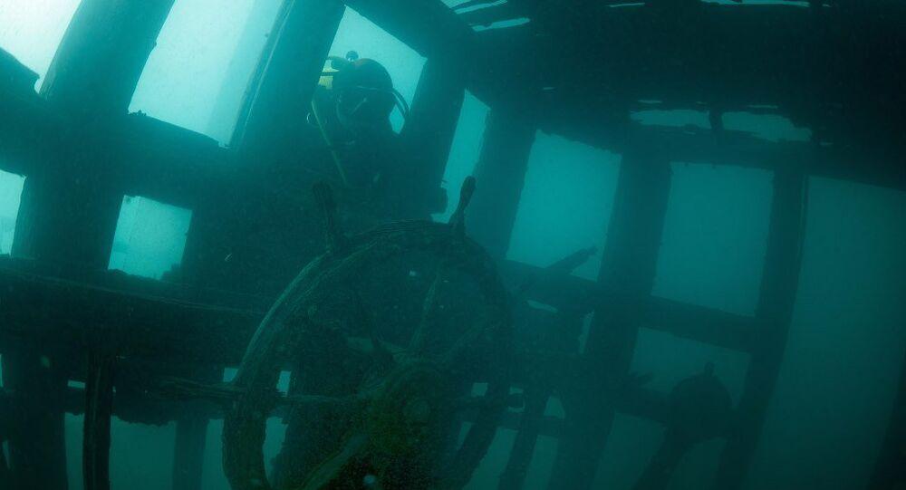 Van Gölü'nde batık Rus şilebi bulundu
