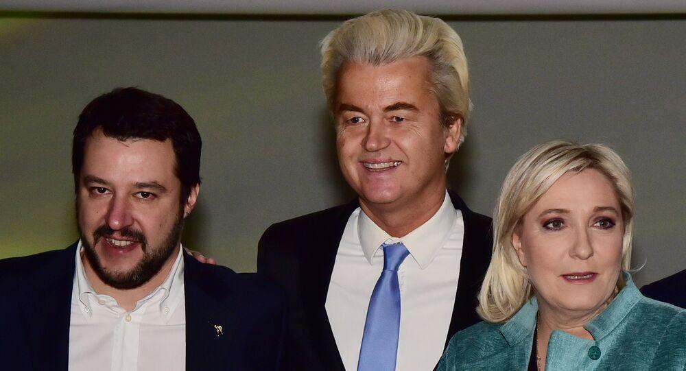 Matteo Salvini - Geert Wilders - Marine Le Pen