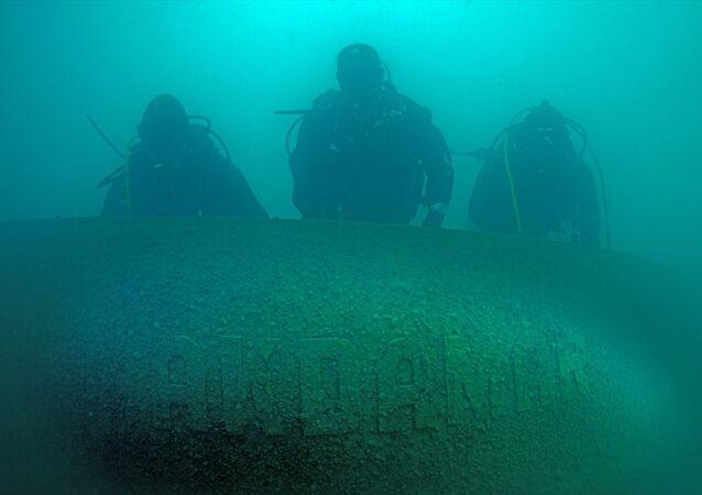 Van Gölü'nde Rus gemisi bulundu