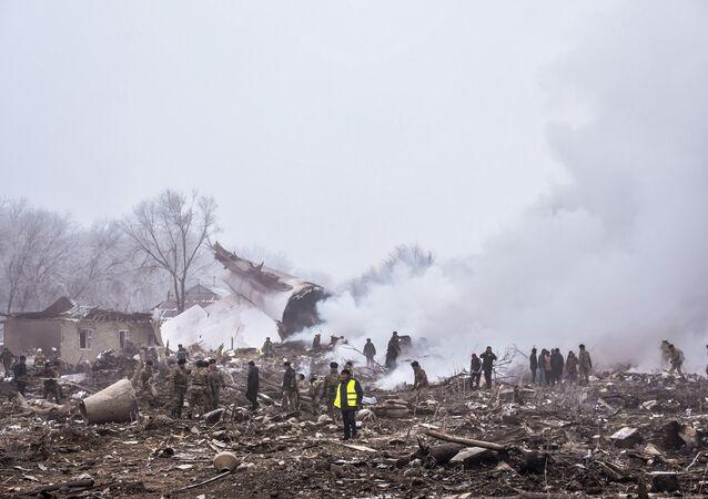 Kırgızistan'da uçak kazası