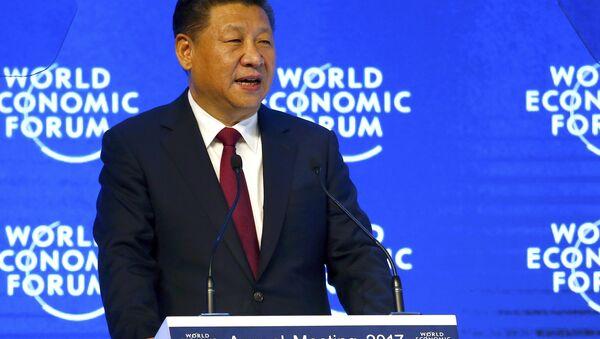 Çin Devlet Başkanı Şi Cinping, 2017 Dünya Ekonomik Forumu Yıllık Toplantısı'nda konuştu  - Sputnik Türkiye