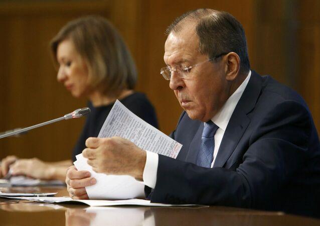 Rusya Dışişleri Bakanı Sergey Lavrov ve Rusya Dışişleri Sözcüsü Mariya Zaharova