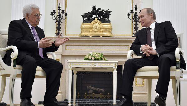 Filistin Devlet Başkanı Mahmud Abbas ve Rusya Devlet Başkanı Vladimir Putin - Sputnik Türkiye