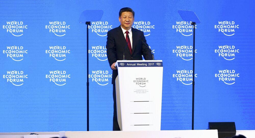 Çin Devlet Başkanı Şi Cinping, 2017 Dünya Ekonomik Forumu Yıllık Toplantısı'nda konuştu