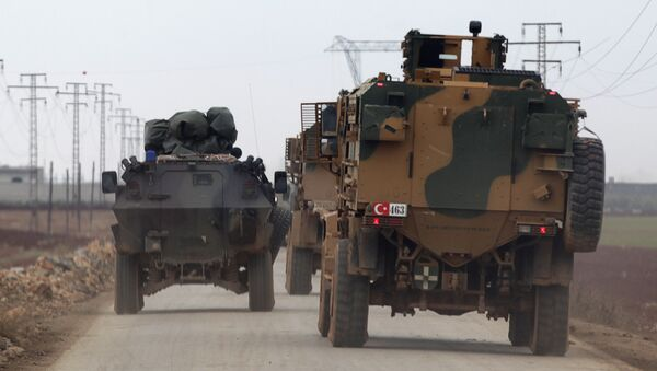 El Bab yönüne giden Türk askeri araçları - Sputnik Türkiye