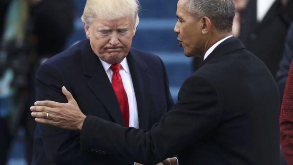 Donald Trump başkanlık görevini selefi Barack Obama'dan aldı - Sputnik Türkiye