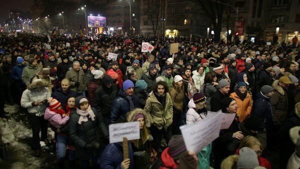 Romanya'da protestolar - Sputnik Türkiye