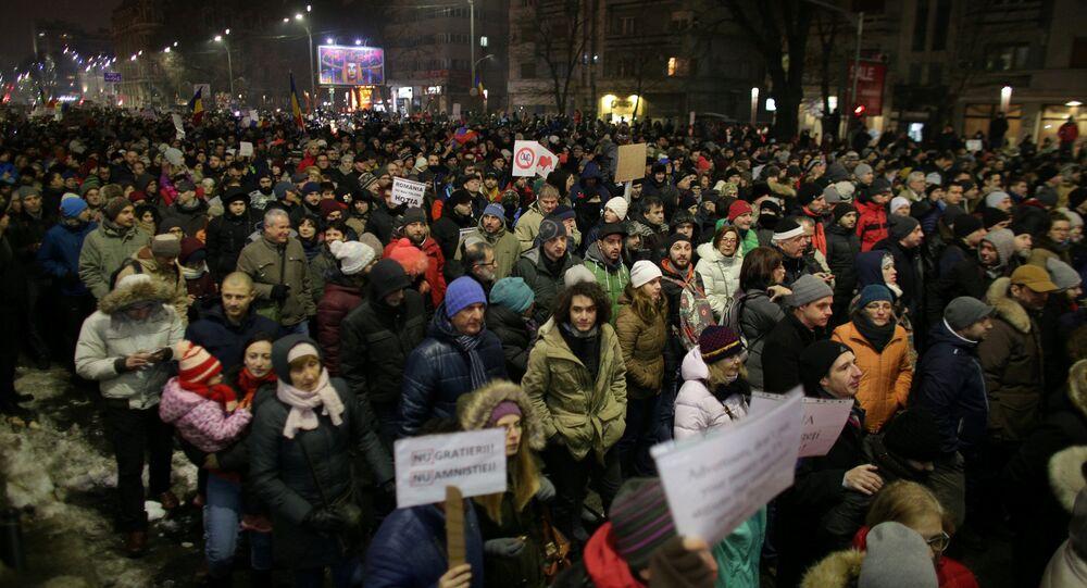 Romanya'da protestolar