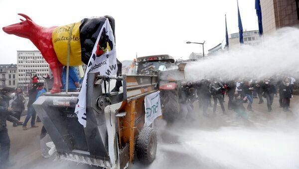 AB Konseyi'ne süt tozuyla protesto - Sputnik Türkiye
