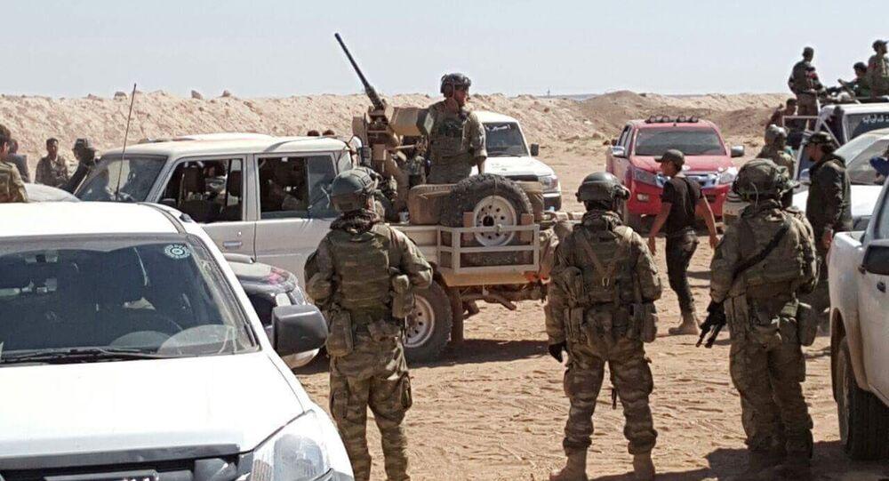 Suriye'nin Çobanbey kasabasındaki (el Rai) ABD askerleri