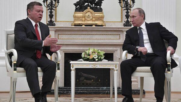 Rusya Devlet Başkanı Vladimir Putin ve Ürdün Kralı 2. Abdullah - Sputnik Türkiye