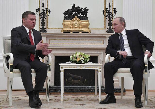 Rusya Devlet Başkanı Vladimir Putin ve Ürdün Kralı 2. Abdullah