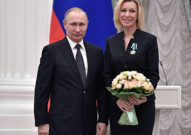 Rusya Devlet Başkanı Vladimir Putin- Rusya Dışişleri Bakanlığı Sözcüsü Mariya Zaharova