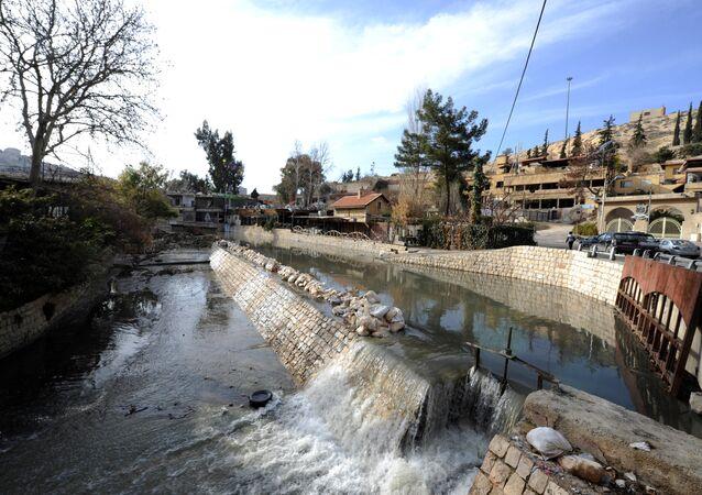 Şam'ın içme suyu kaynağı olan Barada ırmağı