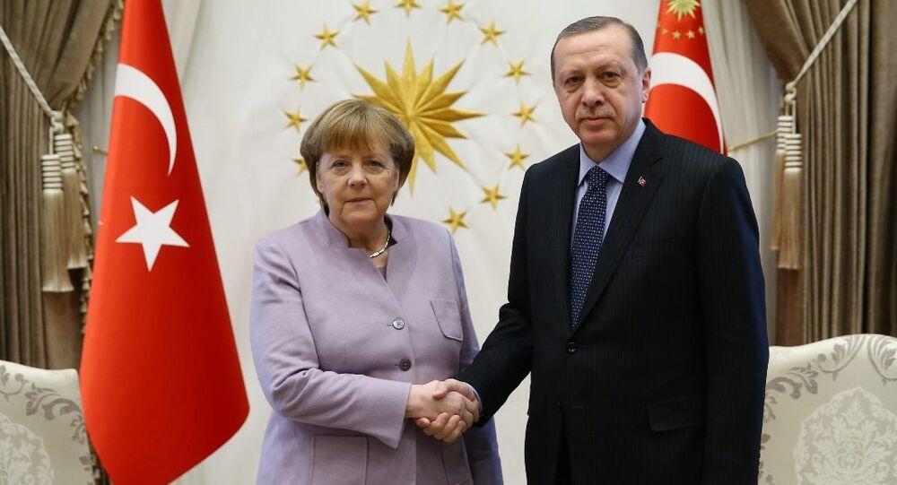 Almanya Başbakanı Angela Merkel- Türkiye Cumhurbaşkanı Recep Tayyip Erdoğan