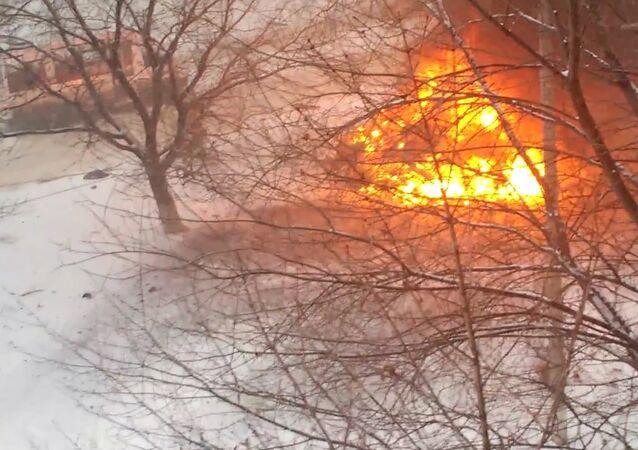 Car Blast in Lugansk