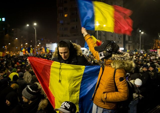 Romanya'da eylemciler hükümetin istifasını istedi