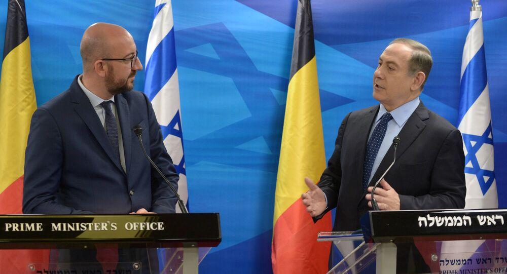 İsrail Başbakanı Benjamin Netanyahu ve Belçika Başbakanı Charles Michel