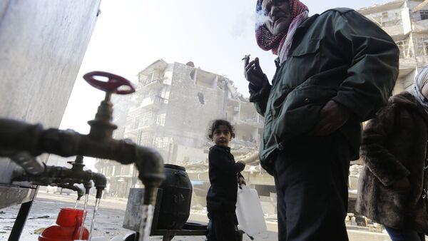 Halep - içme suyu - Sputnik Türkiye