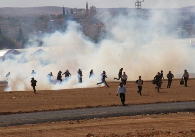 Suruç'ta Kobani protestoları