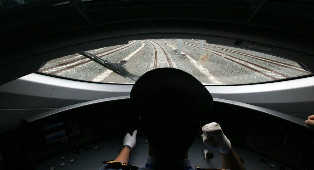 Çin'den bir hızlı tren görüntüsü
