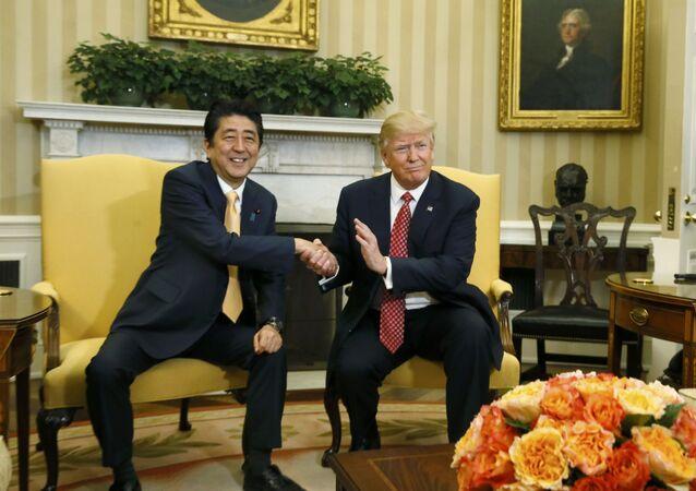ABD Başkanı Trump, Japonya Başbakanı Abe ile görüştü