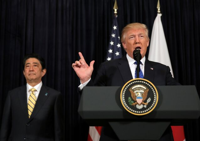 Donald Trump ve Şinzo Abe