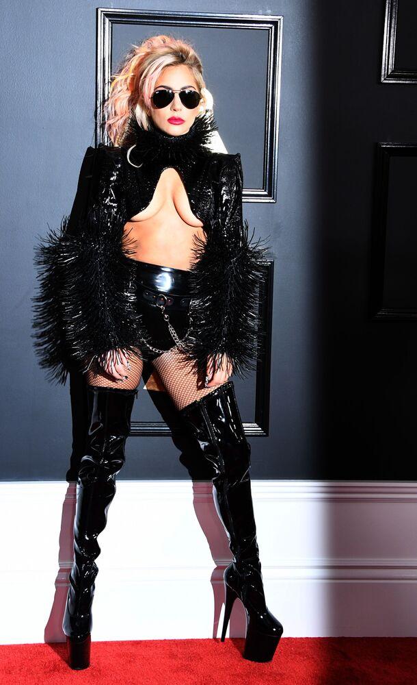 Grammy Ödülü Törenine katılan Lady Gaga.