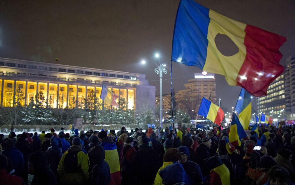 Romanya'da hükümet karşıtı protestolar