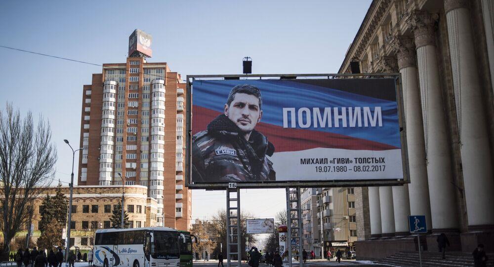 Donetsk'teki Somali taburunun komutanı Mihail 'Givi' Tolstıh