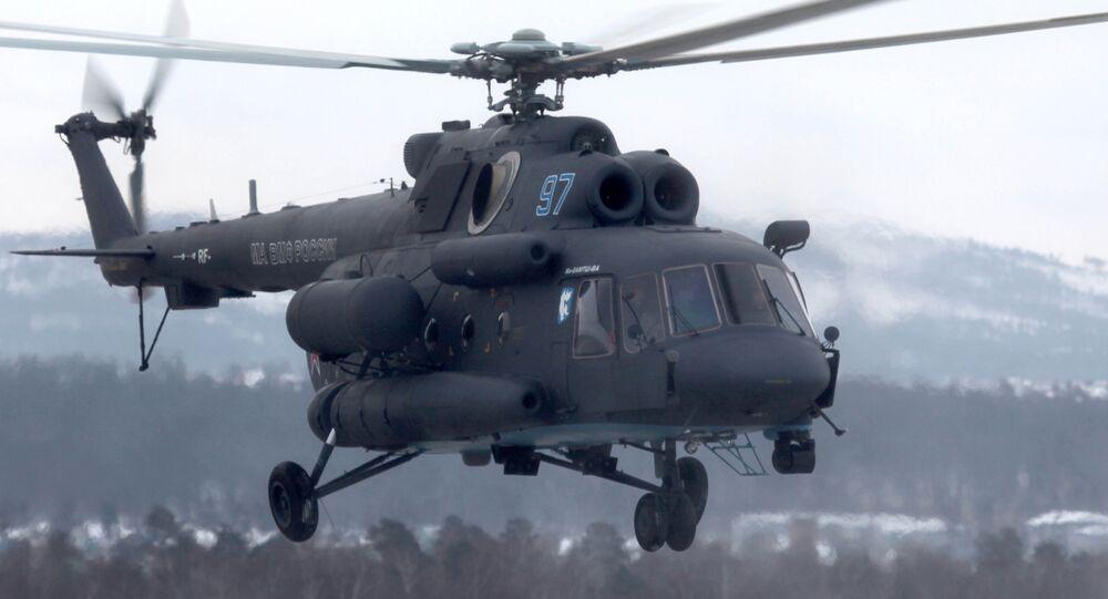 Arktik koşullarında görev yapabilen Mi-8AMTSh-VA helikopteri.