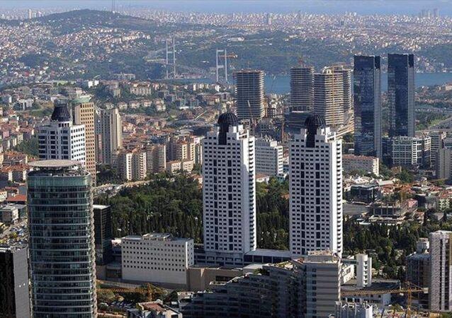 İstanbul'daki iş merkezlerinin yoğunlaştığı gökdelenler