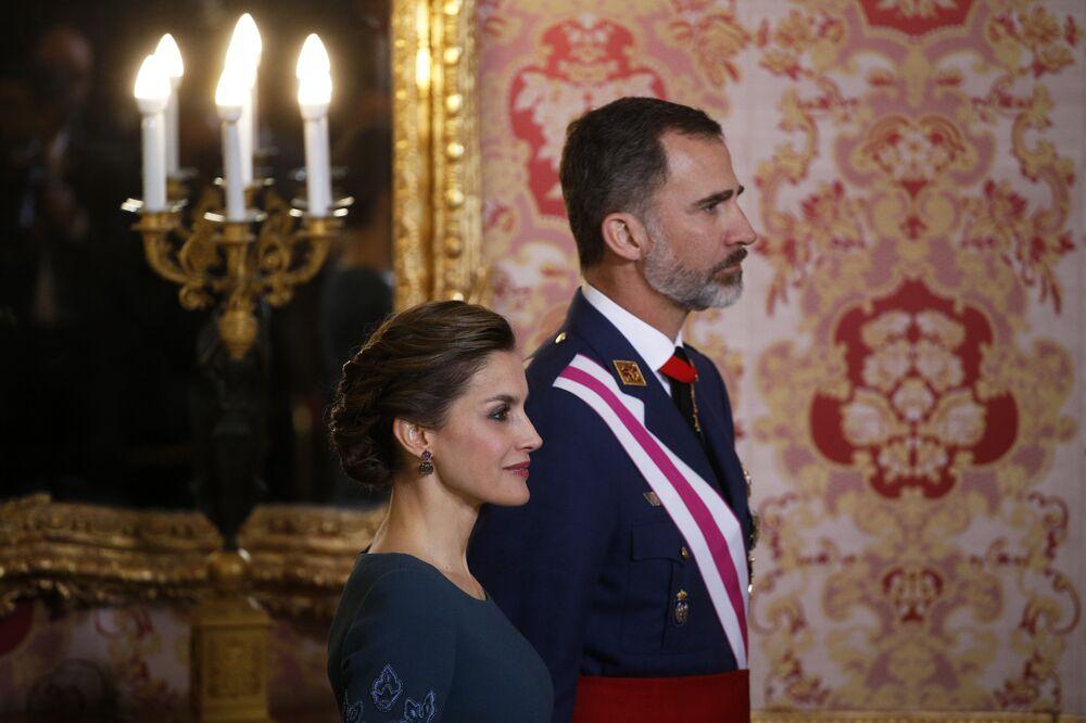 İspanya Kralı 6. Felipe ve eşi Kraliçe Letizia