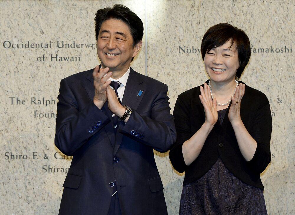 Japonya Başbakanı Şinzo Abe ve Akie Abe