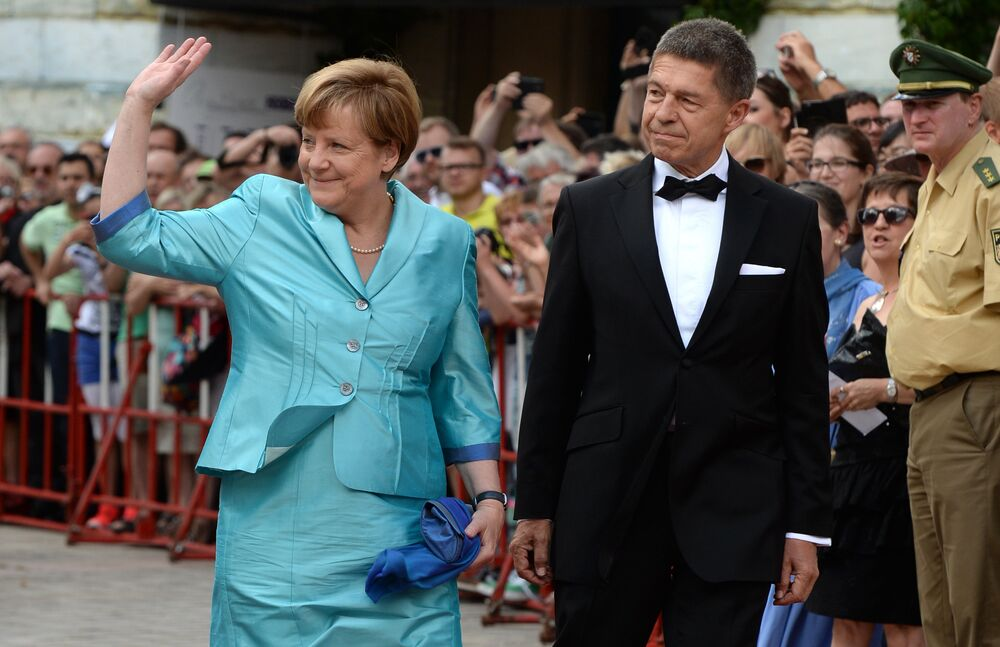Almanya Başbakanı Angela Merkel ve eşi Joachim Sauer