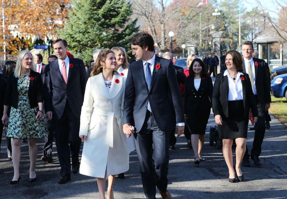 Kanada Başbakanı Justin Trudeau ve eşi Sophie Grégoire