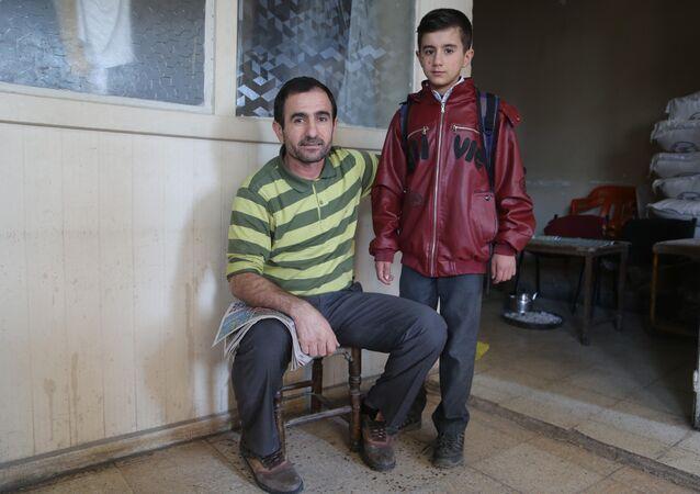 Abdurrahman Yakaomar ile oğlu Hakan Şükür Yakaomar