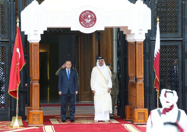 Recep Tayyip Erdoğan - Katar Emiri Temim Hamad El Tani