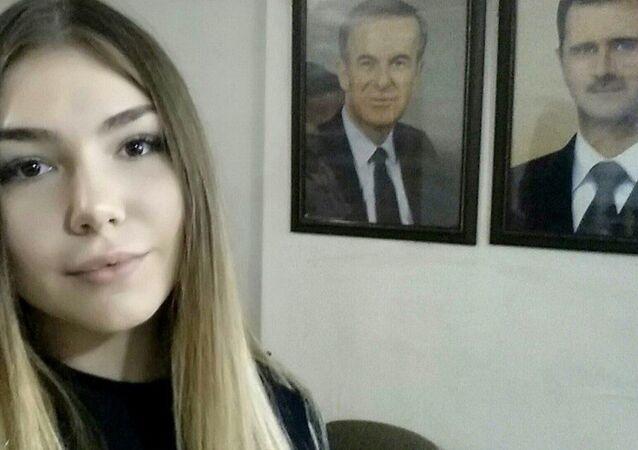 'Dünyanın en güçlü kızı' olarak anılan 17 yaşındaki Rus halterci Maryana Naumova, Şam'ı ziyaret etti.