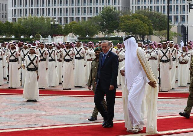 Cumhurbaşkanı Recep Tayyip Erdoğan Katar'da