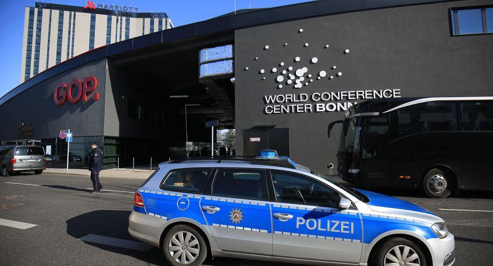 G20 dışişleri bakanlarının toplanacağı konferans salonu