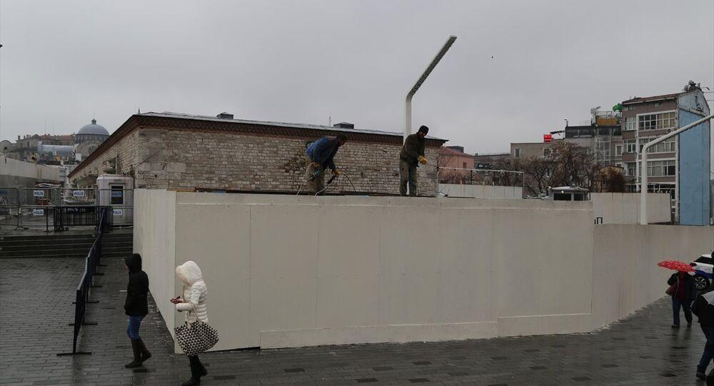Taksim Cami şantiyesi