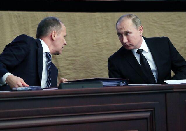 Rusya Devlet Başkanı Vladimir Putin - FSB Başkanı Aleksandr Bortnikov