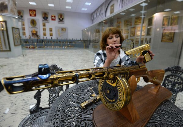 Zlatoust'taki silah fabrikası 1815 yılından beri faaliyet gösterior. - Sputnik Türkiye