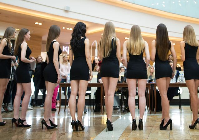 'Miss Russia 2017' güzellik yarışması seçmeleri.