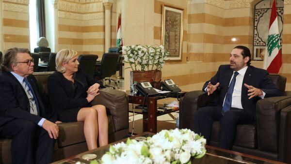Saad Hariri - Marine Le Pen - Sputnik Türkiye